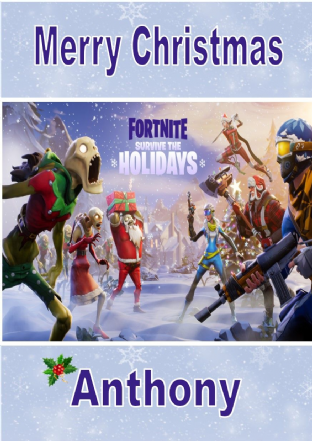 Personalised Fortnite Christmas Card